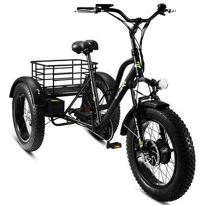 electric adults tricycle 20 fat tire lcd