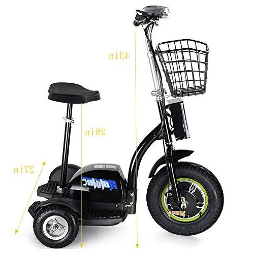 SAY Bike 500W Scooter,3 Wheel Adult Mobility Light Womann