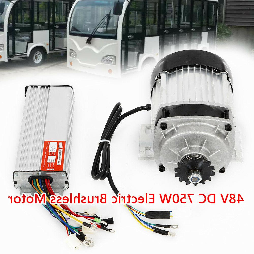 750W Electric Scooter Tricycle E-bike Brushless Motor 48V w/Controller