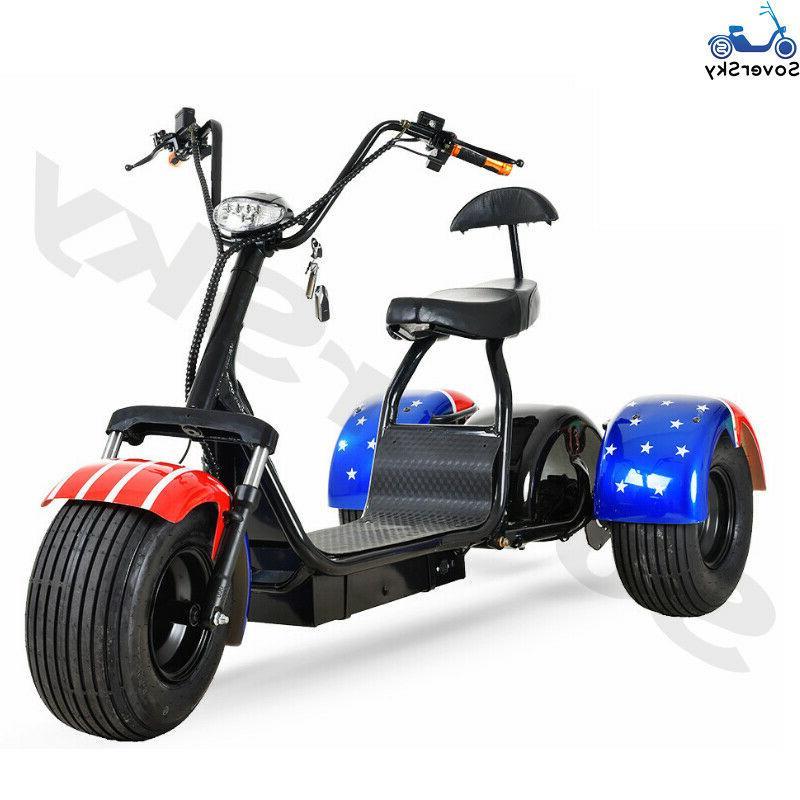 Black Electric Golf Trike 3 wheel scooter Tricycle 20Ah