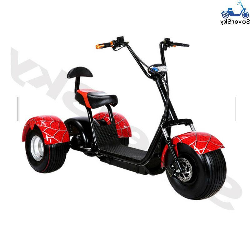 Black Golf 3 wheel Electric Tricycle