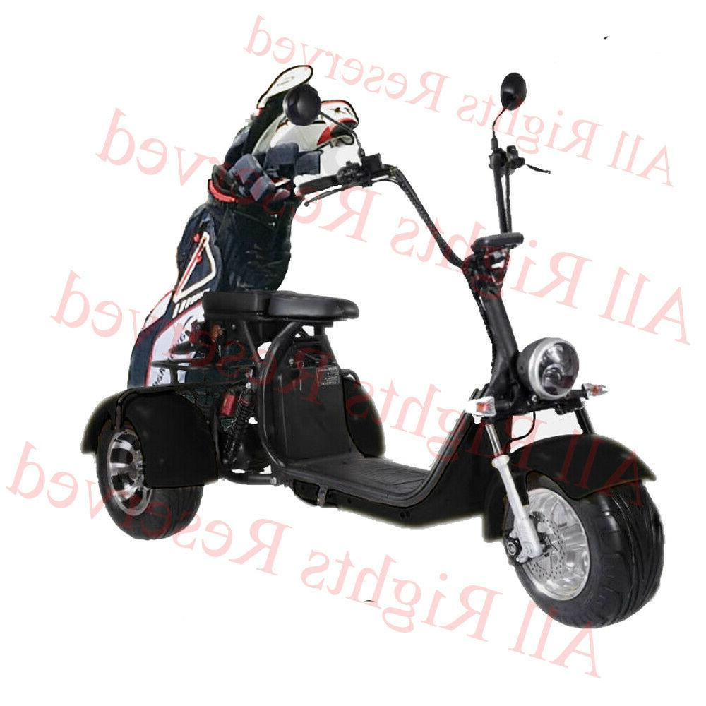 Black Electric Golf Trike 3 wheel scooter Electric Tricycle