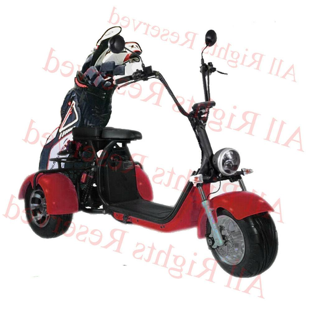 Black Electric Golf Trike 3 wheel Tricycle 2000