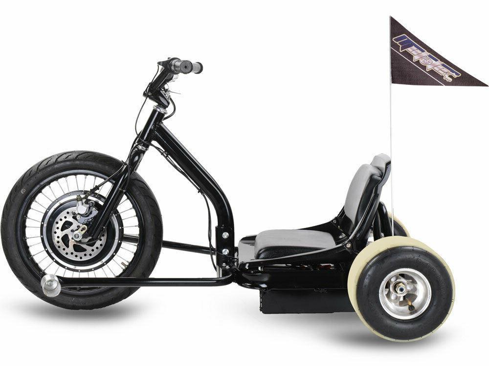 MotoTec Drifter 48V Electric Drift Trike Black FAST 22 m.p.h