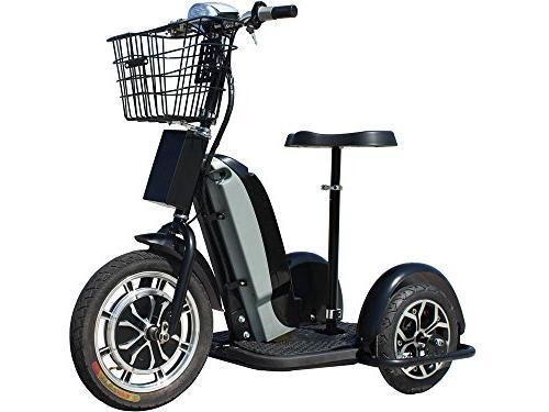 Rugged Trike 800w Adult Led Seat Motor Trike Basket