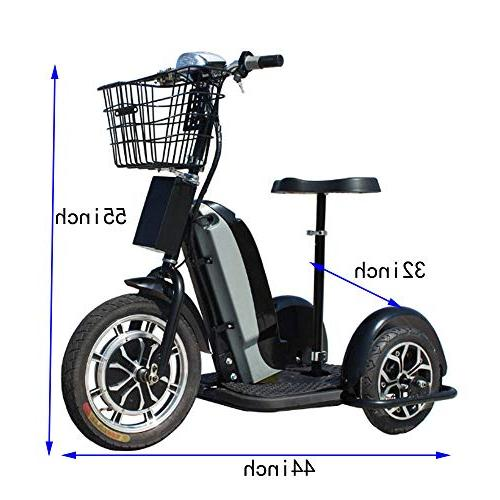 800w Mobility Led Light Tricycle,Adjustable Basket