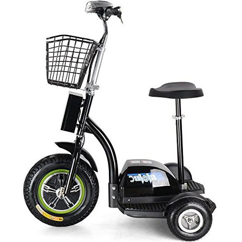 Rugged 500w Electric Light Electric Tricycle for Men and with Adjustable Tricycle,Black