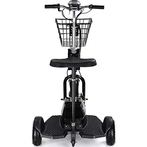 Rugged Electric 48v 500w Light Electric Tricycle for Men and Adjustable Tricycle,Black