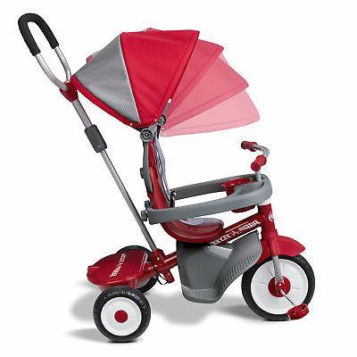 Radio Flyer EZ 4-in-1 'N Infant Toddler Stroller Red