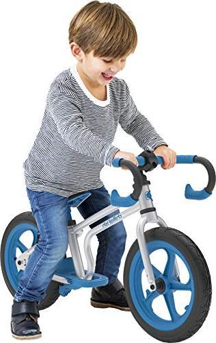 Chillafish Balance Bike Integrated Footrest, Footbrake RubberSkin Tires,