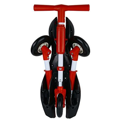 Medog Bike Glide Tricycle Foldable Indoor Outdoor Scooter Scratch Wheels No IT Under CPC of CPSIA