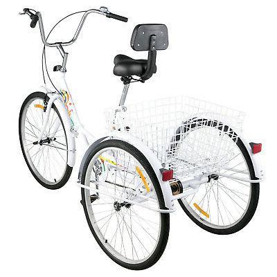 Foldable 26'' Speed Folding Bike w/Basket