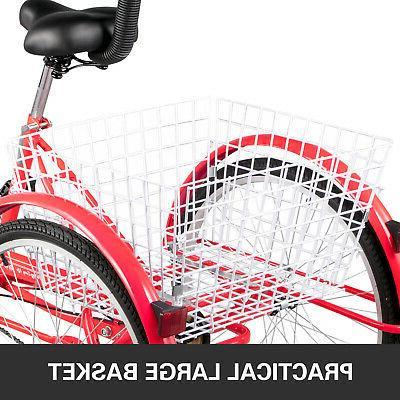 Foldable Adult Wheels 7-Speed 3 Wheel Bikes