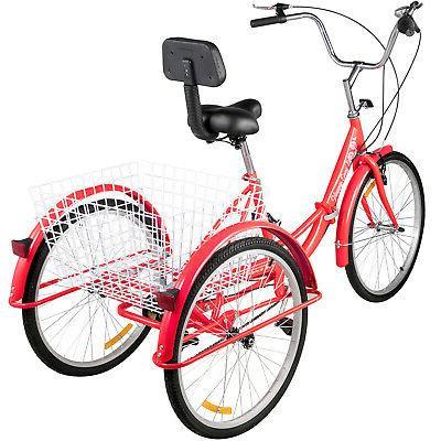 Foldable Adult 7-Speed 3 Wheel Bikes