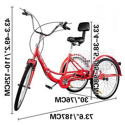 Foldable Wheels Folding Adult 7-Speed Wheel Bikes