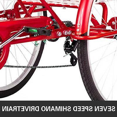 Foldable 26'' Wheels 7-Speed 3 Wheel Bikes