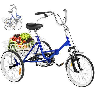 folding adult tricycle 20 portable cruise bike
