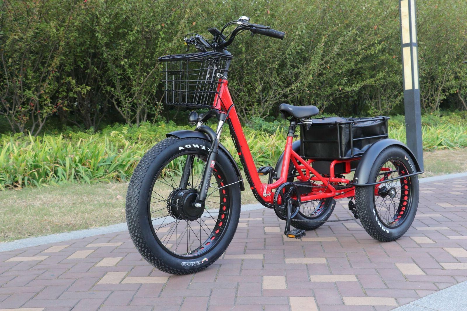 folding fat tire electric tricycle trike moped