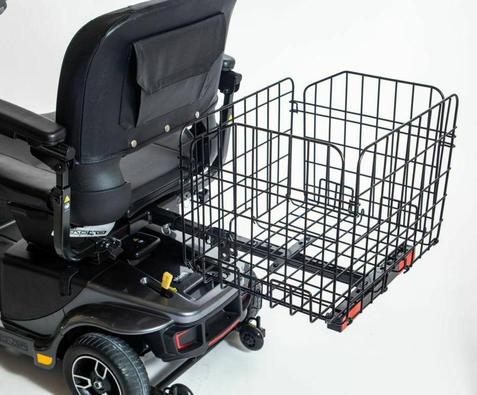 Folding Rear Basket Accessory for Pride Mobility Scooter Stu