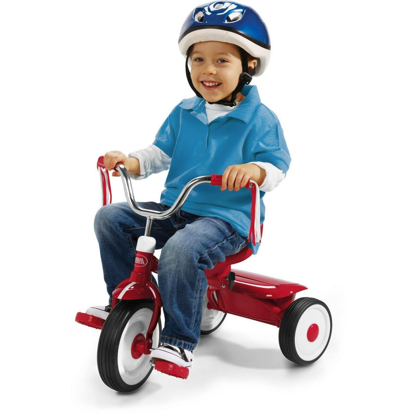 Folding Trike Red Kids Ride On Toy Garden