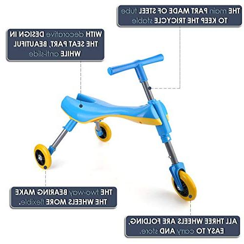 Freshday Glide for Indoor Use, Kids Bike Scooter, Non Scratch Wheels and No Assembly Required