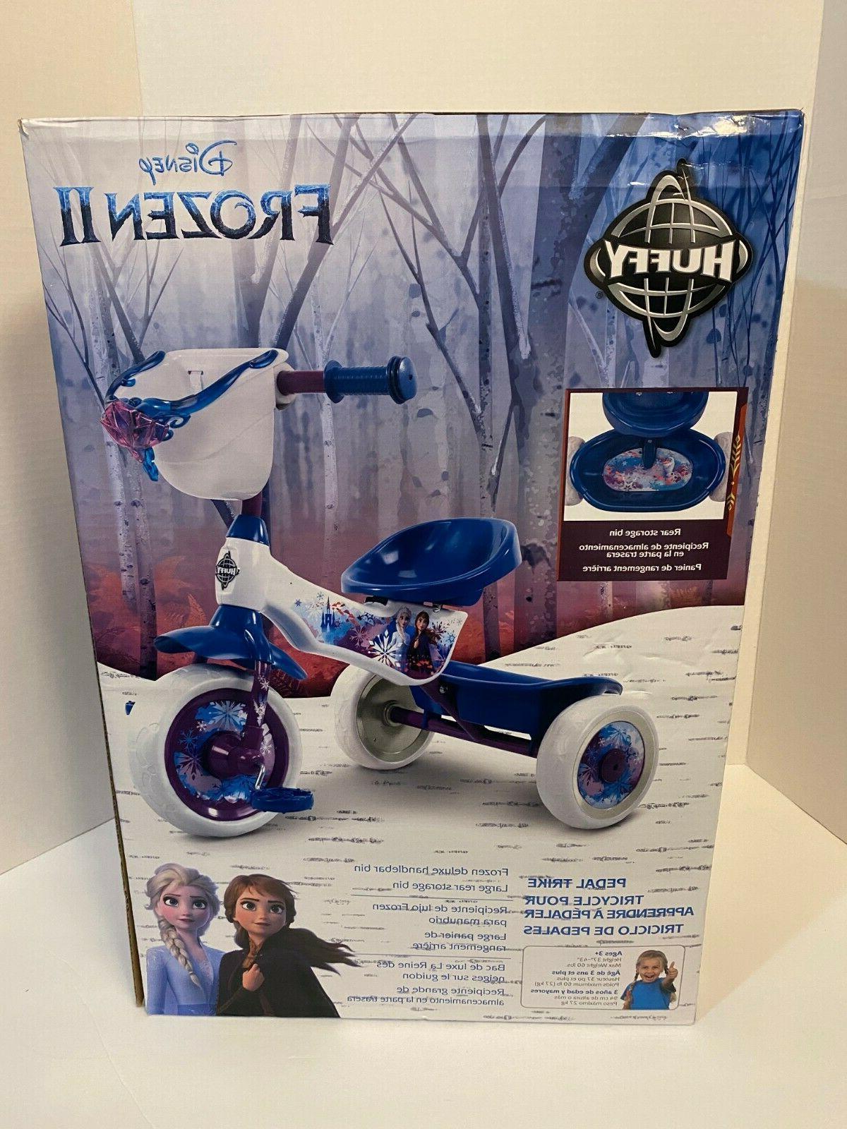 frozen ii 2 pedal trike tricycle blue