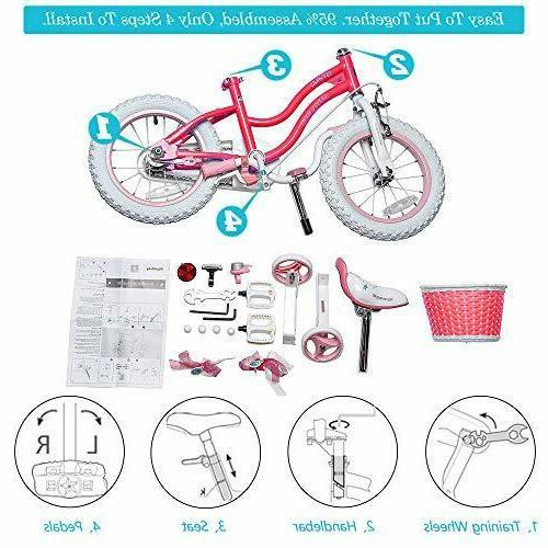 RoyalBaby Girls Bike 12 Inch Bicycle Assorted Colors ,