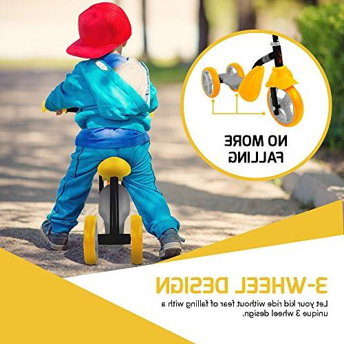 Scooter Trike 2-in-1 Adjustable 2, 3, Year Old or Transforms Seconds