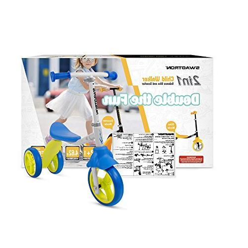 K2 Toddler 3 Wheel Scooter & Trike Adjustable 2, 3, Year Boy or Girl Seconds