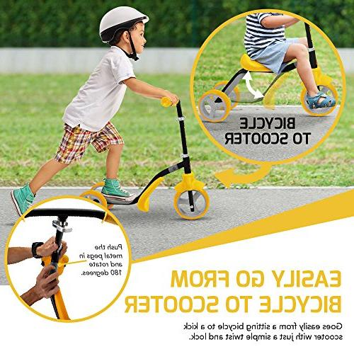 K2 Toddler Kick & Ride-On Balance 2-in-1 Adjustable for 2, 5 Old Kids Boy or In Seconds