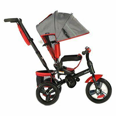 kalin full size reclining tricycle with push