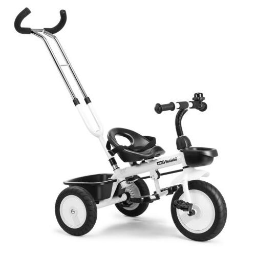 Kids Tricycle Stroller +Push Handle For Years Old
