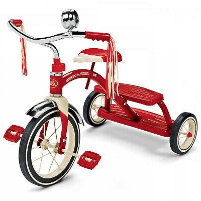 tricycle kids ride on classic red dual