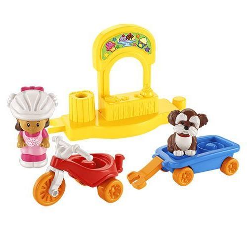 little people trike wagon playset
