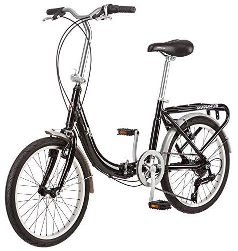 Schwinn Bicycle, 20-Inch Wheels, 7-Speed, Black