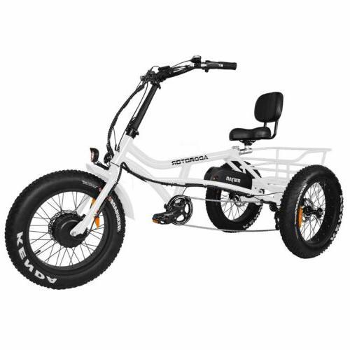 m 360 750w electric trike beach cruiser