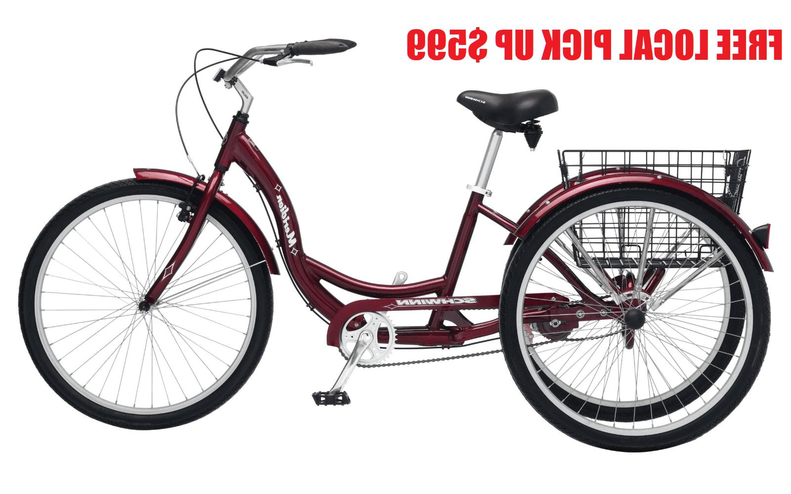 meridian 26 adult tricycle black cherry local