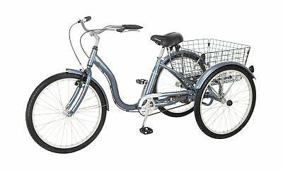 meridian adult tricycle 24 inch wheels slate