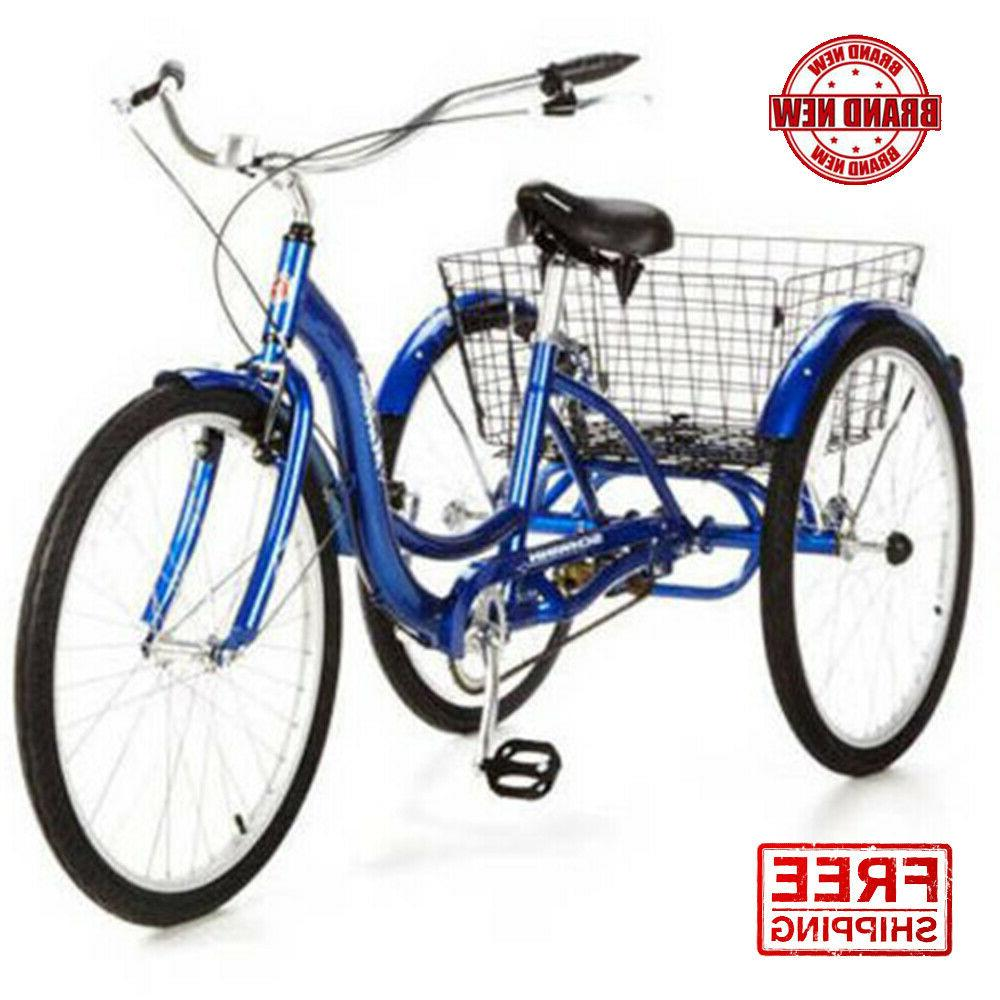 meridian full size adult tricycle 26 wheel