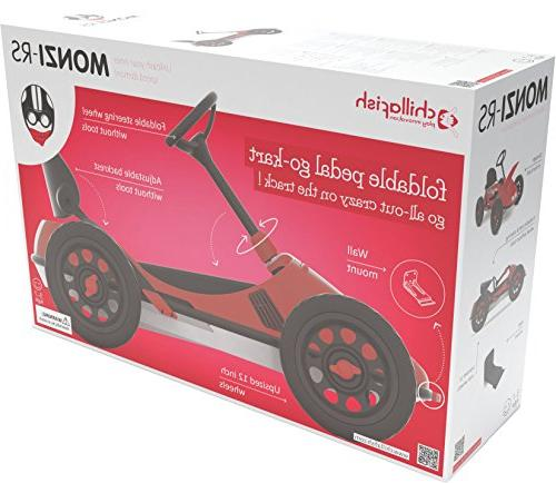 Chillafish Monzi RS Foldable Go-Kart, Airless Tires, Red