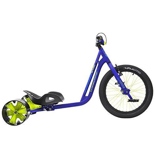 MPSL-71013-Triad Underworld 3 Drift Trike Tricycle, Blue/Neon