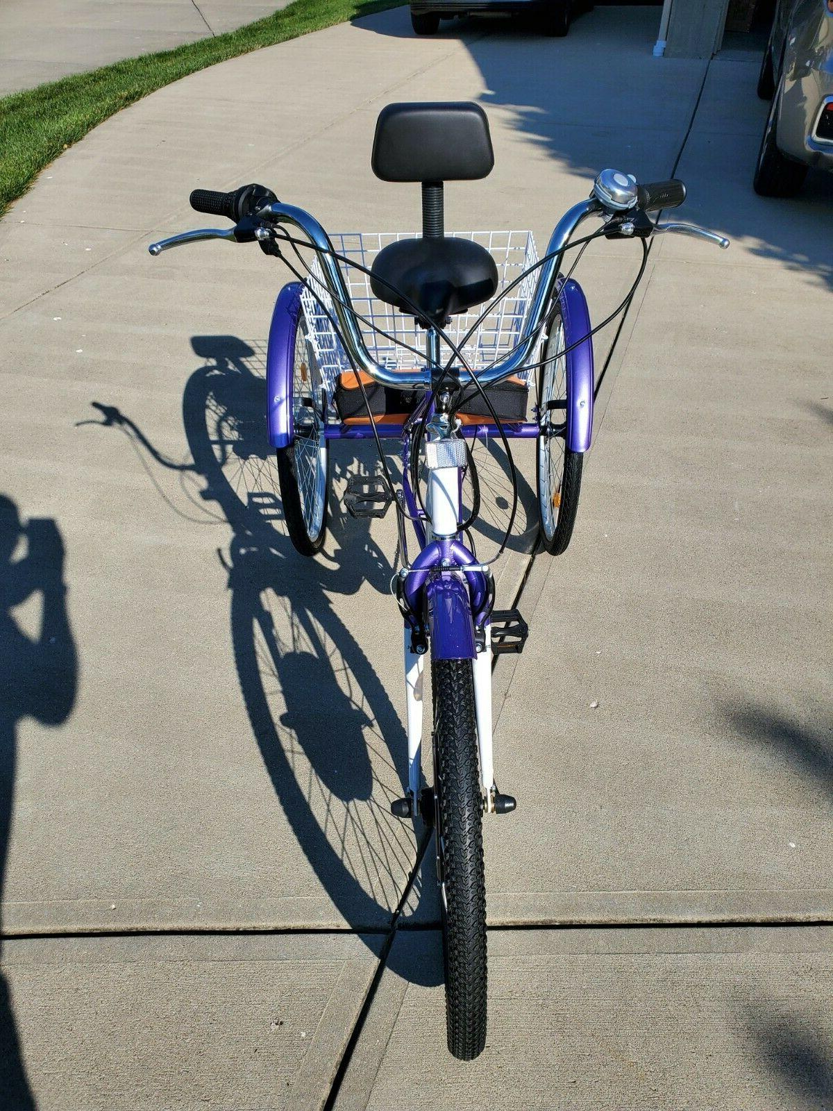 """New! 26"""" 7 Speed Electric ETrike 48 volt Cargo and"""