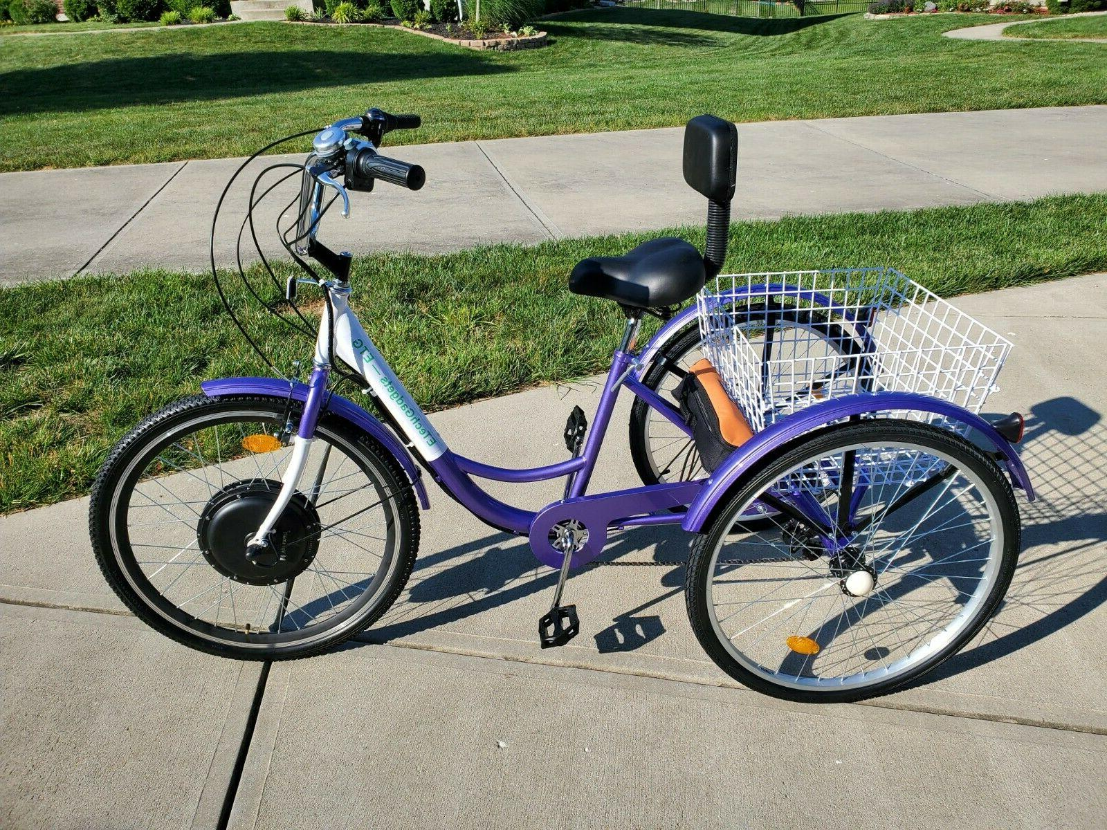 """New! 26"""" Electric ETrike volt 10.5Ah Cargo and more"""