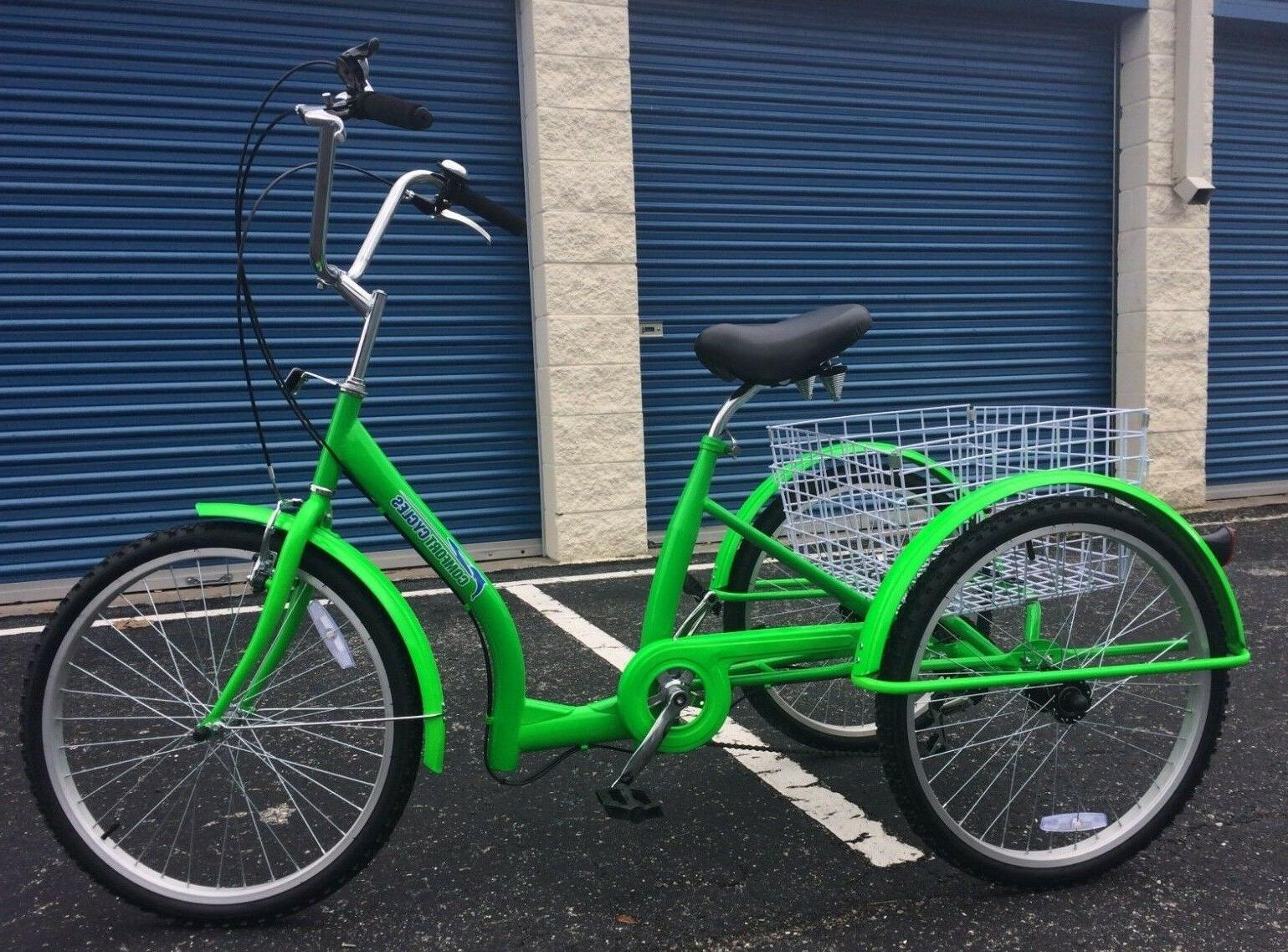 green adult tricycle u frame dutch design