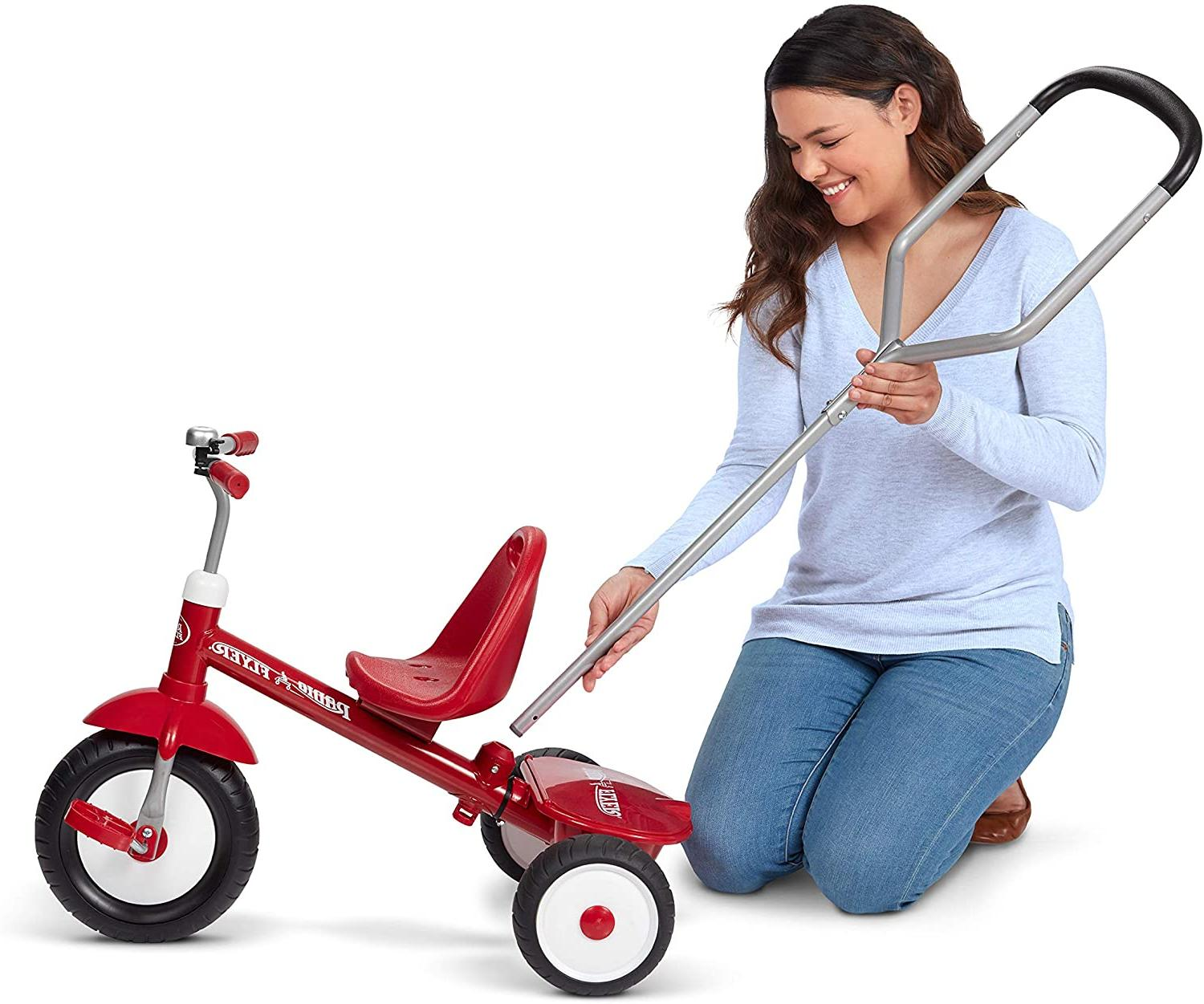 new deluxe steer and stroll tricycle trike