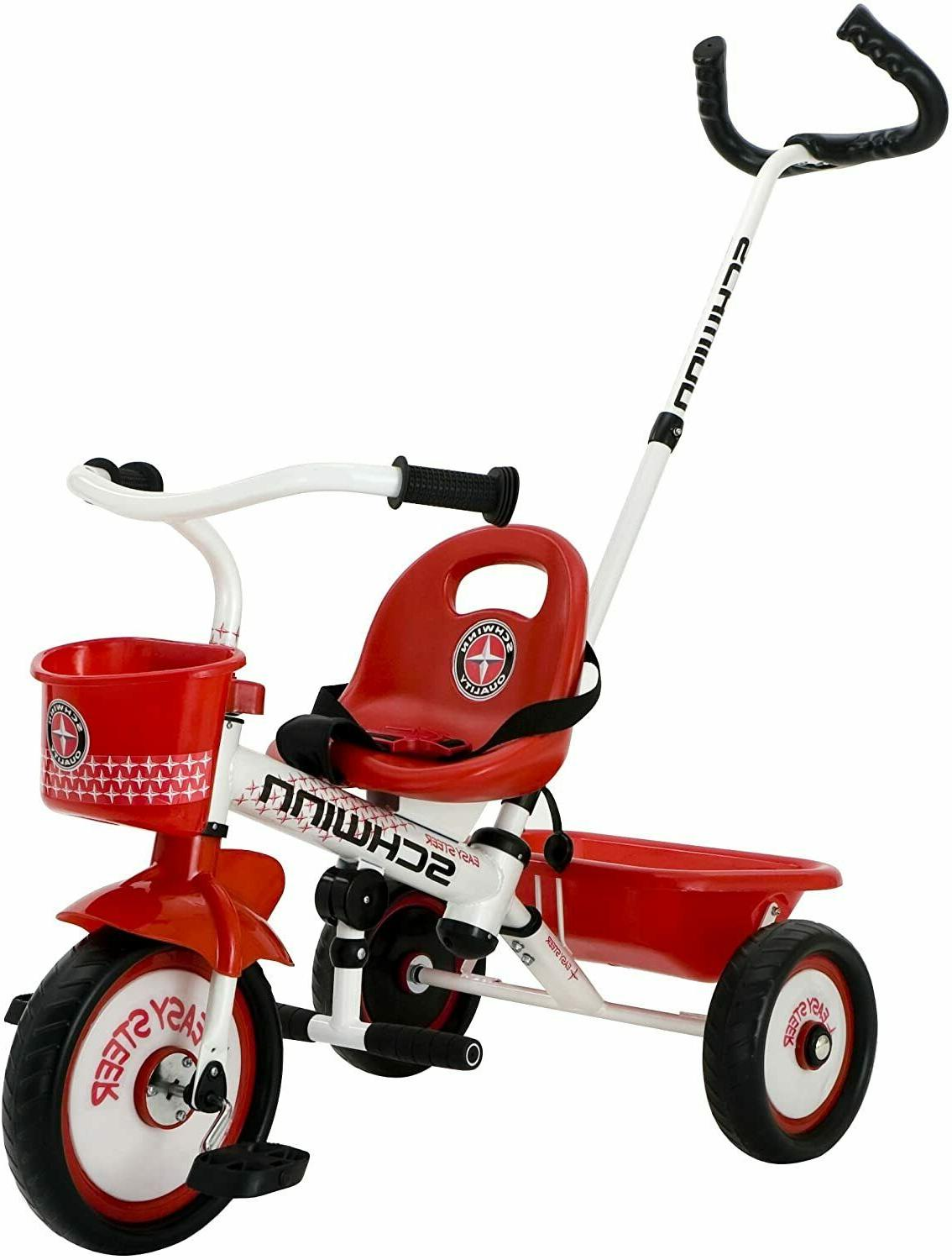 new easy steer tricycle red white sealed