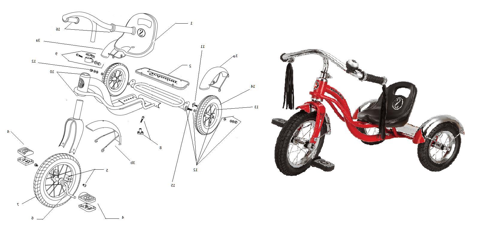 NEW Schwinn Tricycle Part: