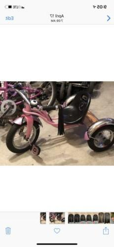 Pink Tricycle For Young Girl