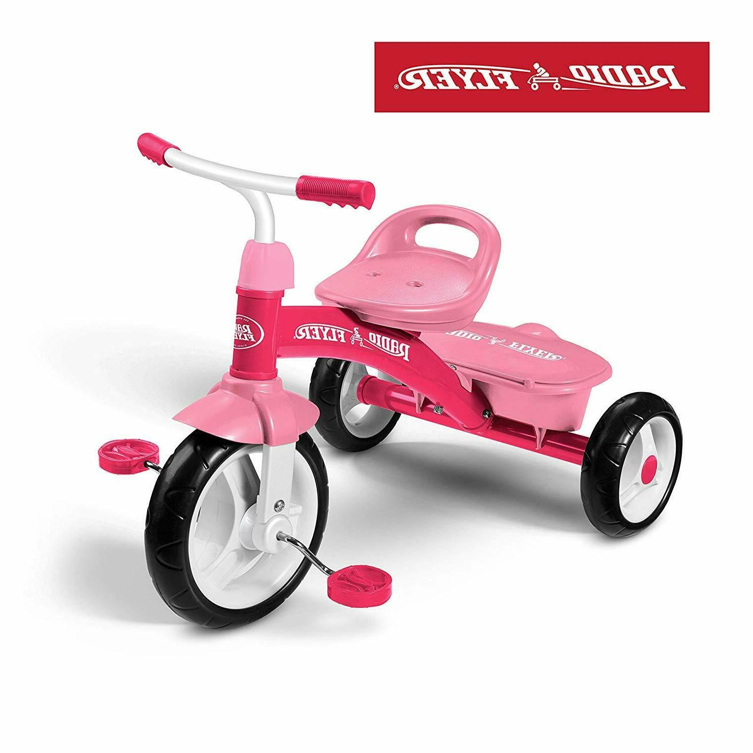 pink tricycle triciclo trike bike rider kids
