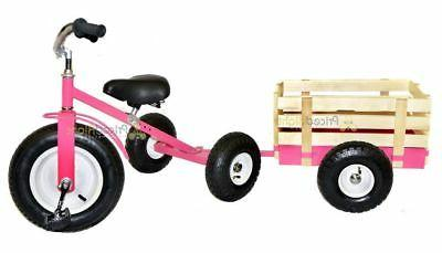 Pink Tricycle with Toy Valley